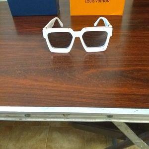 Louis Vuitton 1.1 millionaire white sunglasses
